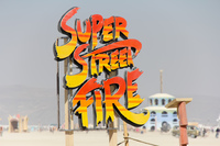 Super Street Fire Black Rock City,  Nevada,  United States, North America