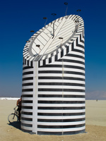 zebra tube Black Rock City,  Nevada,  United States, North America