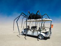 spider car Black Rock City,  Nevada,  United States, North America