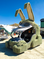 green bunny Black Rock City,  Nevada,  United States, North America