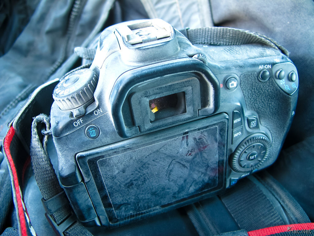 dusty Canon 60D camera after burning man
