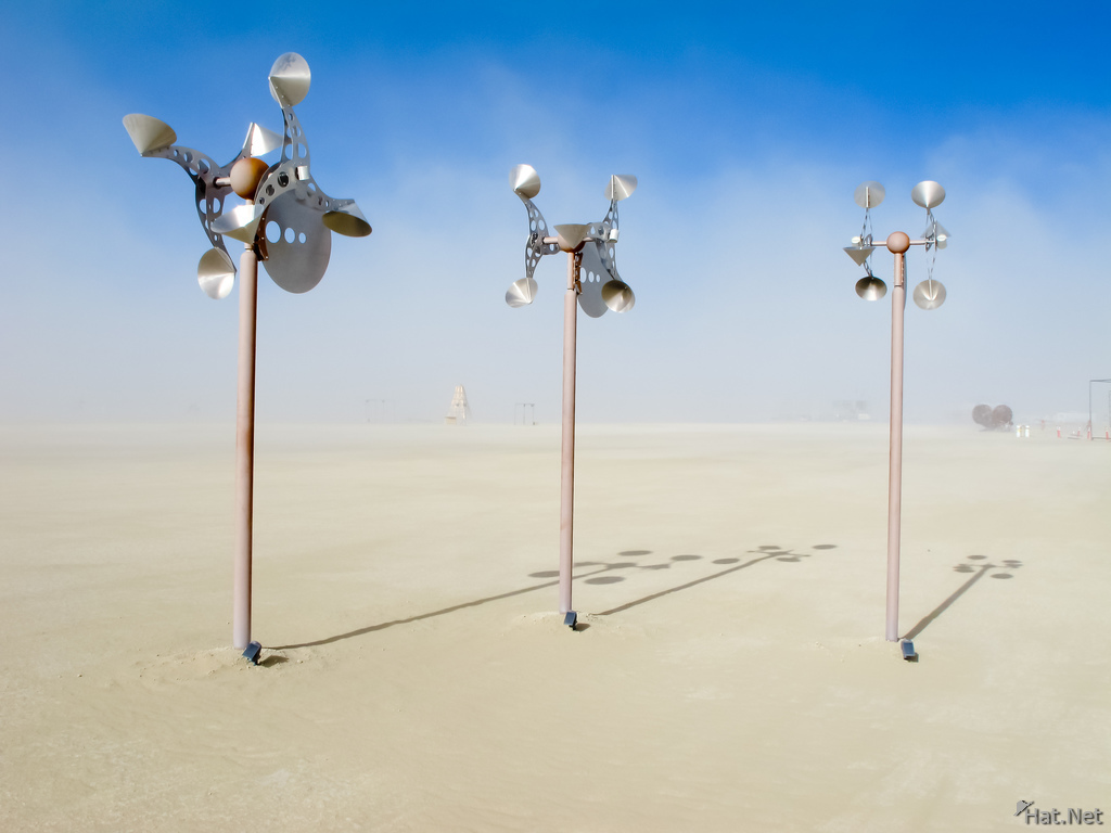 wind bells in desert